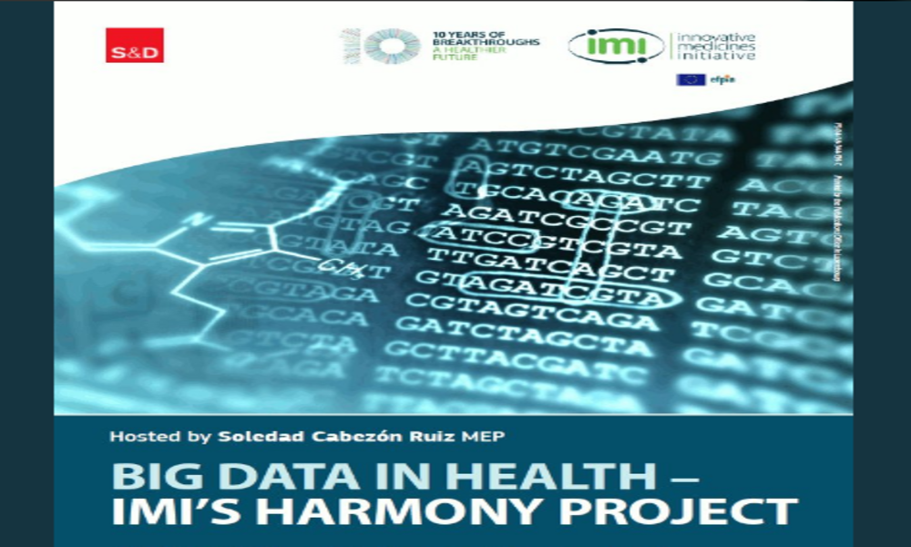 HARMONY presenting at IMI breakfast debate hosted by MEP Soledad Cabezon Ruiz, about BigData & Health